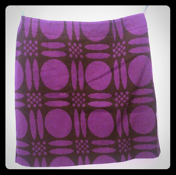 Boden Dresses & Skirts - Boden Purple Circle Wool Skirt